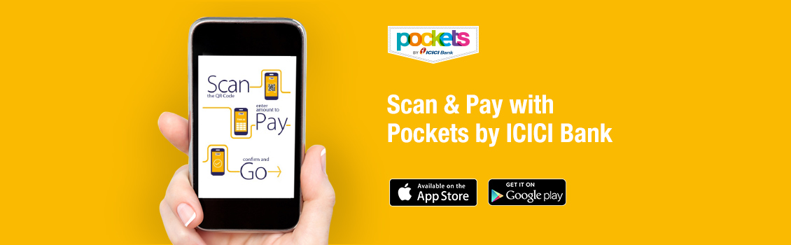 Qr code app scan to pay using pockets icici bank app scan to pay with pockets app reheart Images