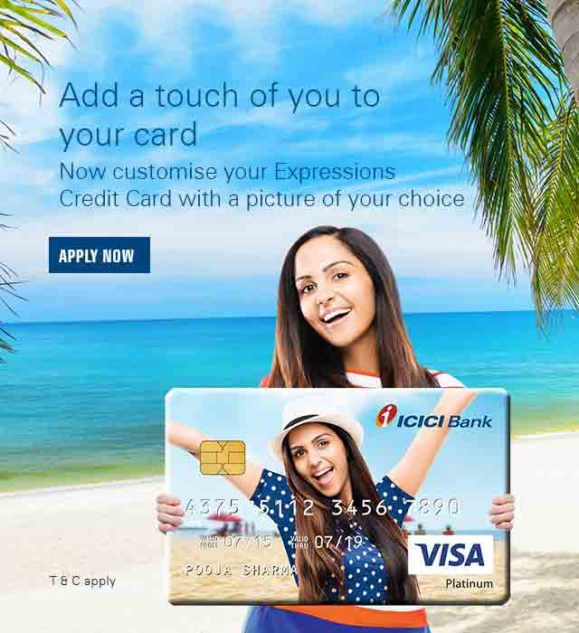icici bank expressions personalized credit cards add personal photos designs - Personalized Credit Cards