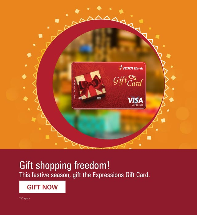 Gift Cards: Buy ICICI Expression Gift Cards Online - ICICI Bank