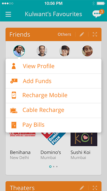 book movie tickets mobile prepaid recharge pay bills