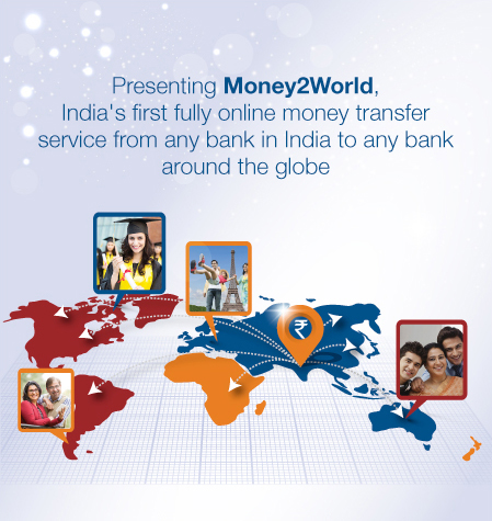 Presenting Money2World, India's fully online money transfer service from any bank in india to any bank around the globe