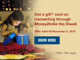 Add more to the festivities this Diwali using Money2India