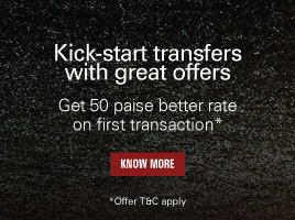 Get 50 paise better rate on first transaction*