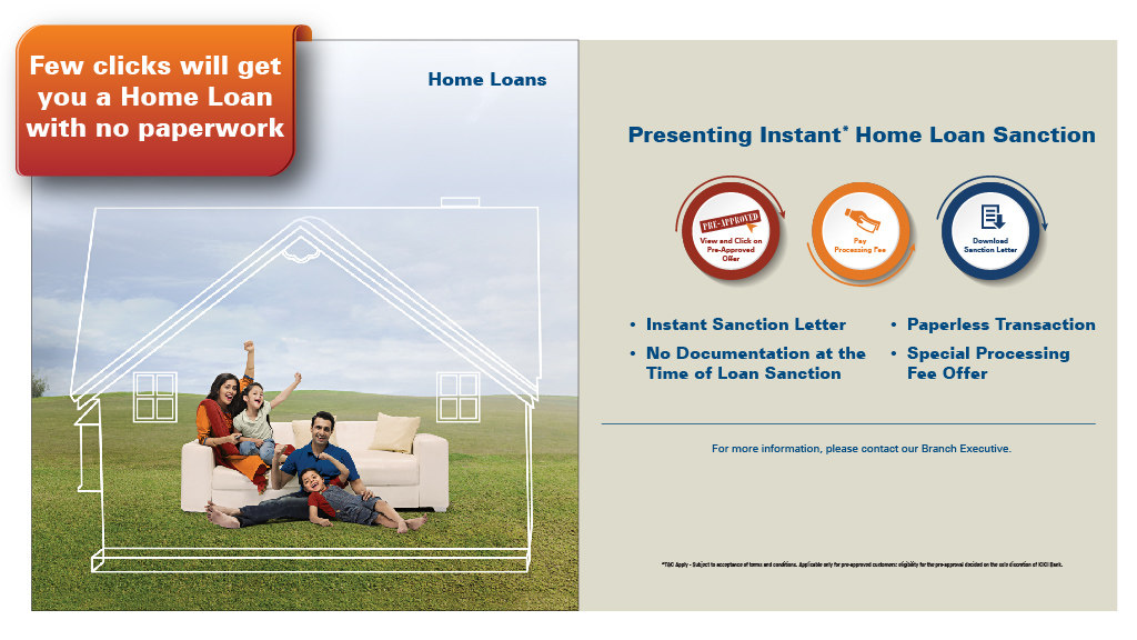 ICICI Bank | ICICI Bank introduces instant & paperless home