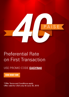 Get 40 paise better rate on your first transaction*