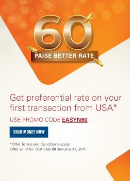 get preferential rate on your first transaction from USA