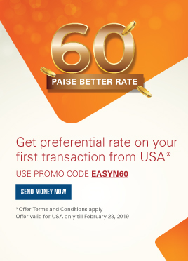 Get preferential rate on your first transaction from USA*