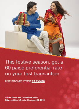This festive season, get a 60 paise preferential rate on your first transaction