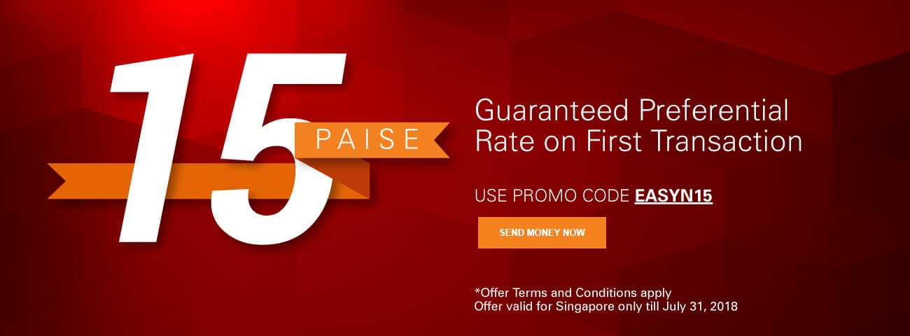 15 Paise Guaranteed Preferential Rate on First Transaction
