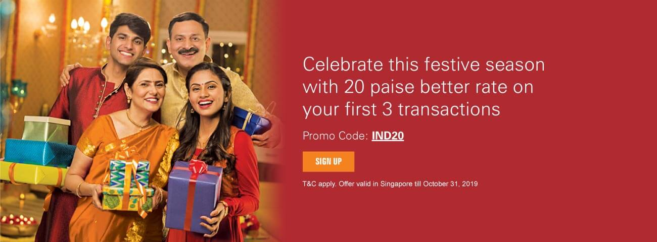 Start your new innings with a 20 paise better rate from Singapore