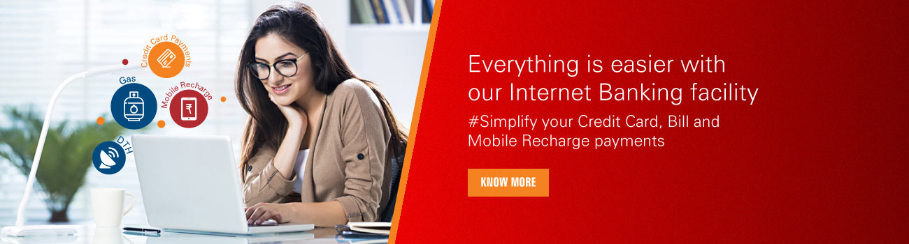 Everything is easier with our Internet Banking facility