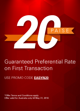 Make the most of money transfers with us Get 20 paise better rate on your first transaction*
