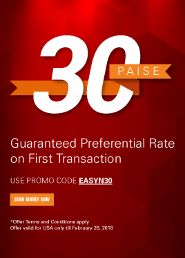 Get 30 paise better rate on your first transaction*