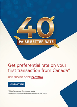 get preferential rate on your first transaction from Canada