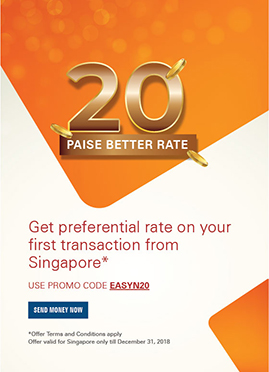 get preferential rate on your first transaction from Singapore