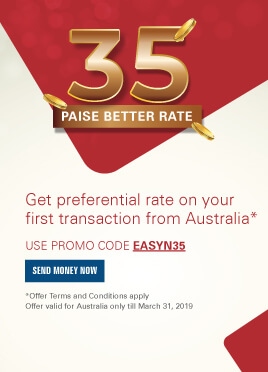 Get preferential rate on your first transaction from Australia*