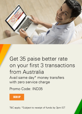 Start your new innings with a 35 paise better rate from Australia