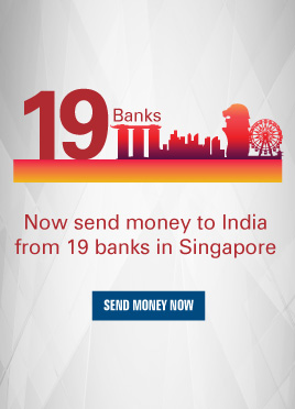 Now send money to India from 19 banks in Singapore