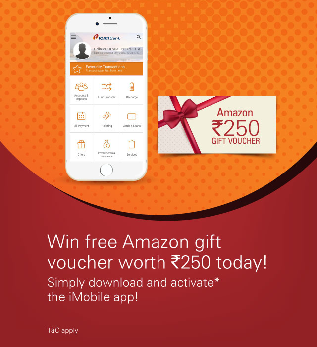 Get an Amazon Gift Card worth Rs. 250 free!