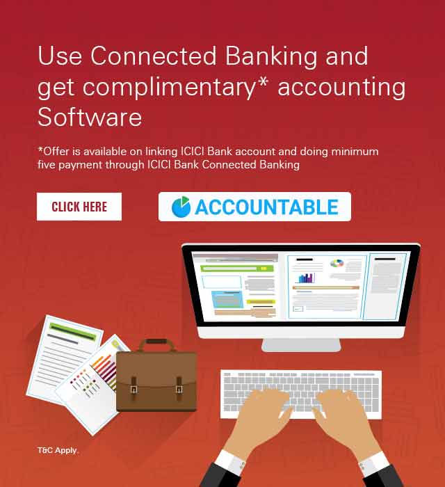 Get Complimentary software at ACCOUNTABLE Offer | ICICI Bank Offers