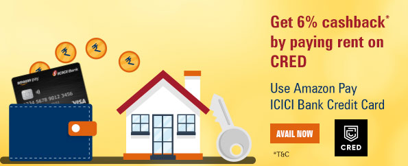 Get 6% cashback* by paying rent on CRED