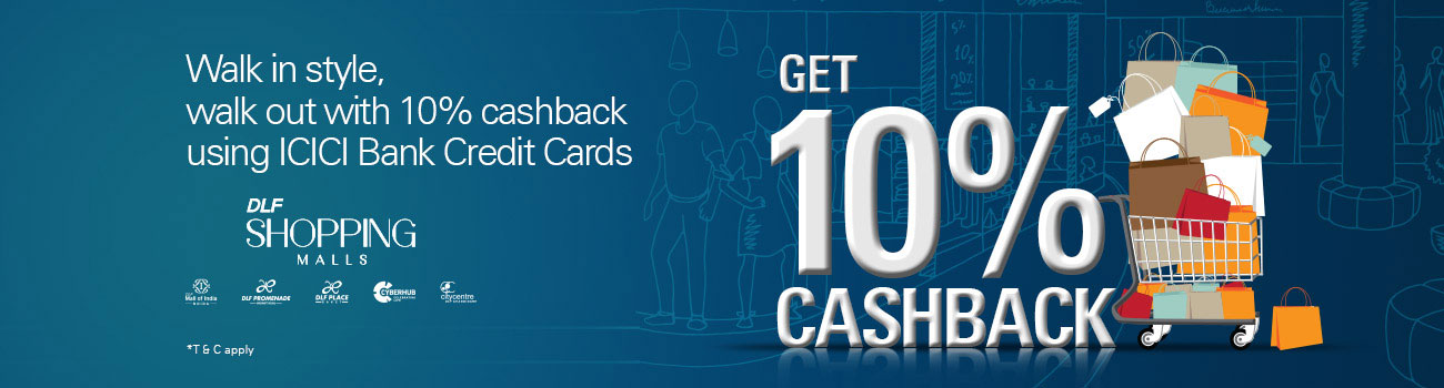DLF Shopping Malls Offer - ICICI Bank