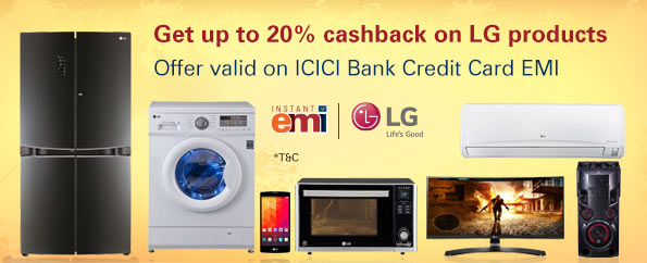 Get 17.5% cashback on LG products
