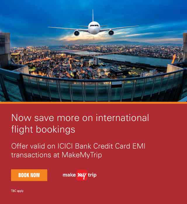 MMT International Flight Bookings offer