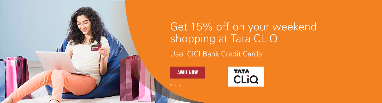 Tata CLiQ Offer - Get 15% off on your weekend shopping