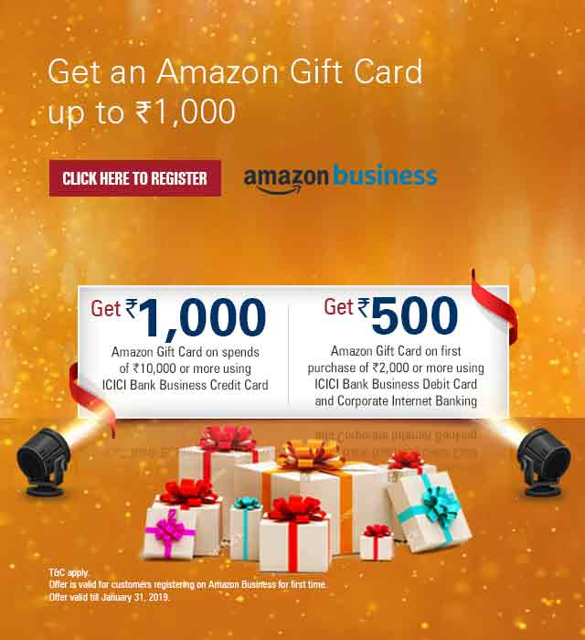 Amazon Business Offer Icici Bank Offers