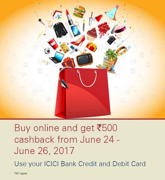 Online sale – Use your ICICI Bank Credit and Debit Cards