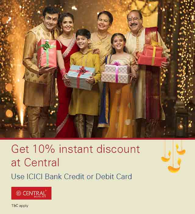 Get 10% instant discount on Central