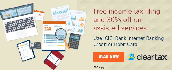Get 15% discount on assisted filing and all ClearTax services