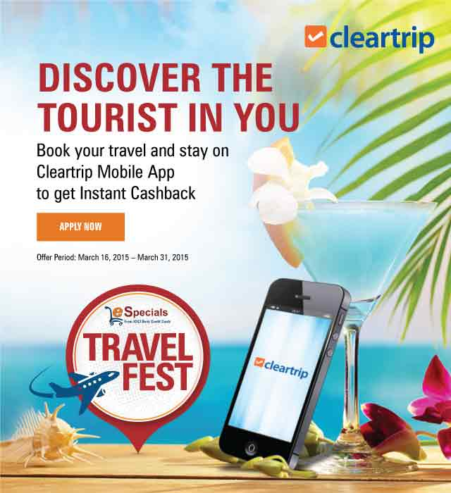 ICICI Bank | Cleartrip Travelfest Offer
