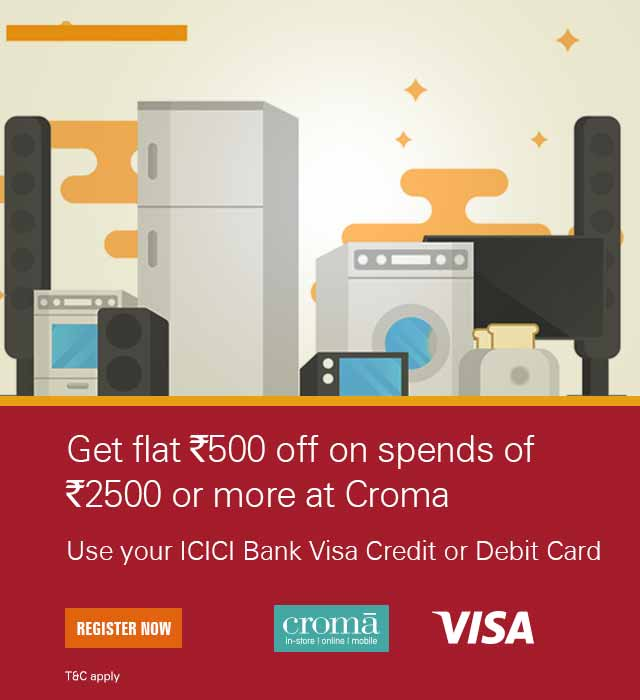 Croma Visa Card Offer