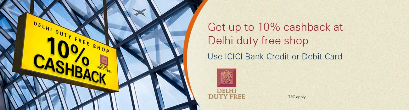 Delhi Duty Cashback Offer