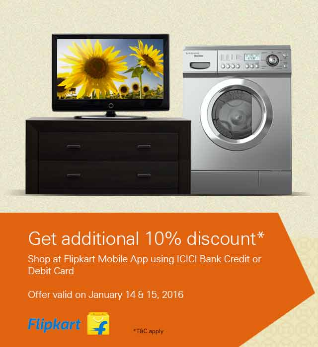 10% off on Flipkart offer