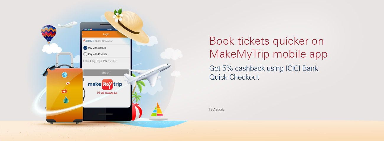 Makemytrip coupons hdfc bank