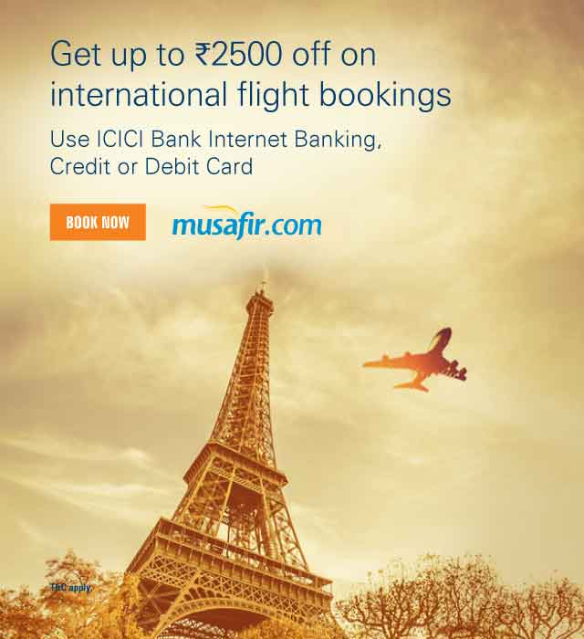 Get Rs.2,500 off on international flight bookings offer