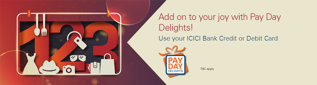 Pay Day Delights Cashback Offer