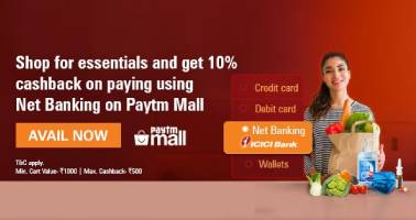paytmmall.com - Avail Upto 10% Cash-Back on Groceries, Sanitizers, Face masks, Health devices and more