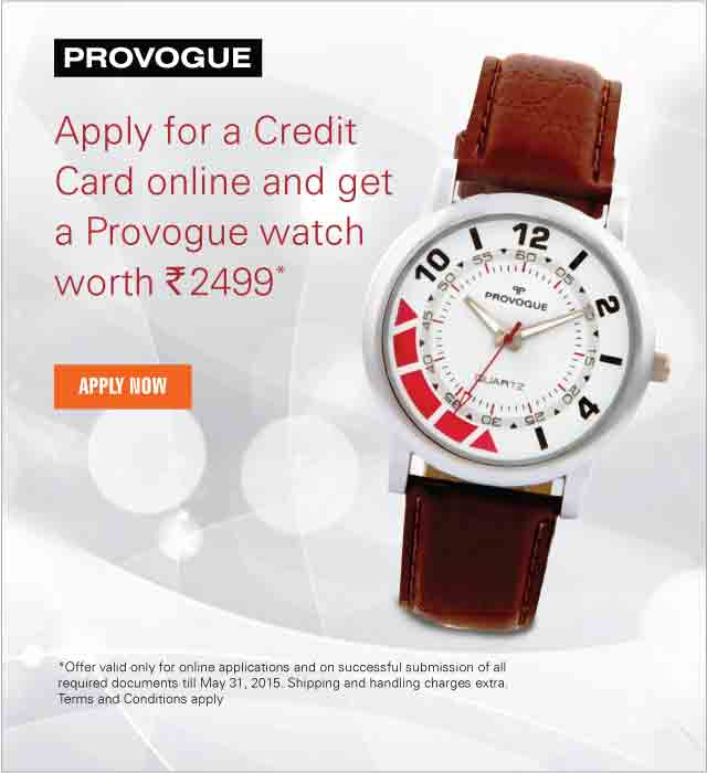 Provogue Watch Offer for Credit Card Application
