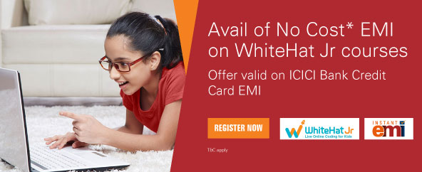 Get No Cost EMI offer on WhiteHat Jr courses