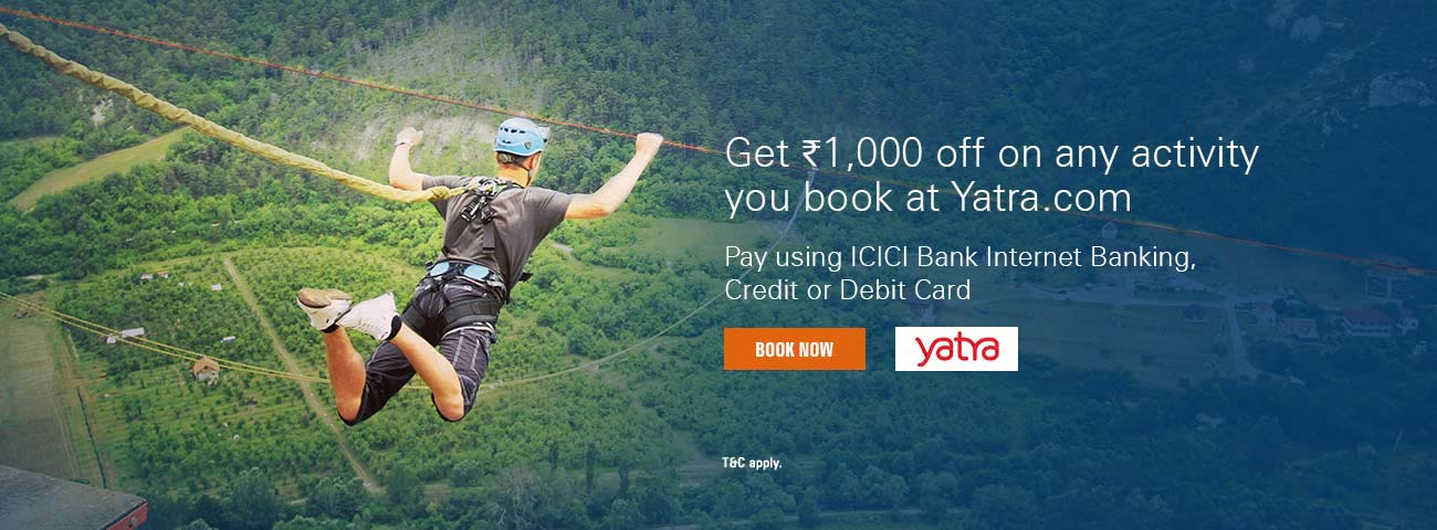 Yatra Offer - Get flat Rs. 1,000 off