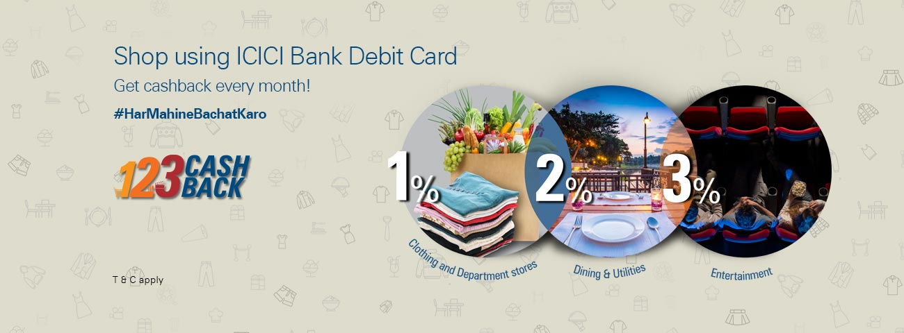 1-2-3 Cashback: Monthly Shopping Bonanza!