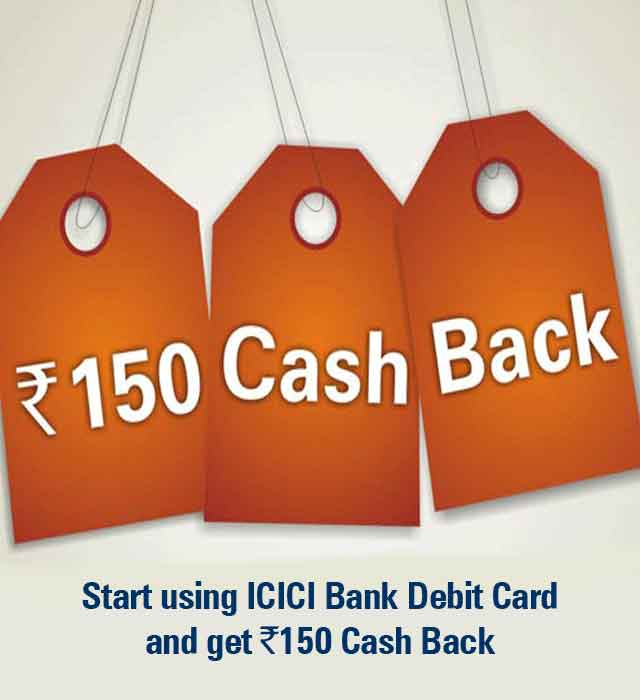 Rs. 150 Cash Back