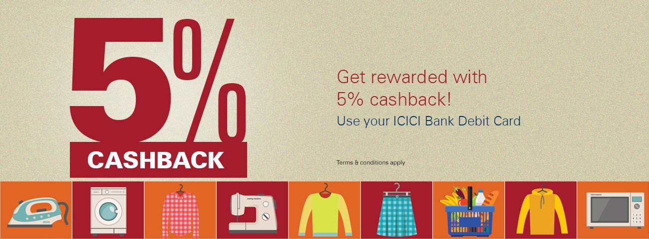 5% Cashback Offer on Groceries