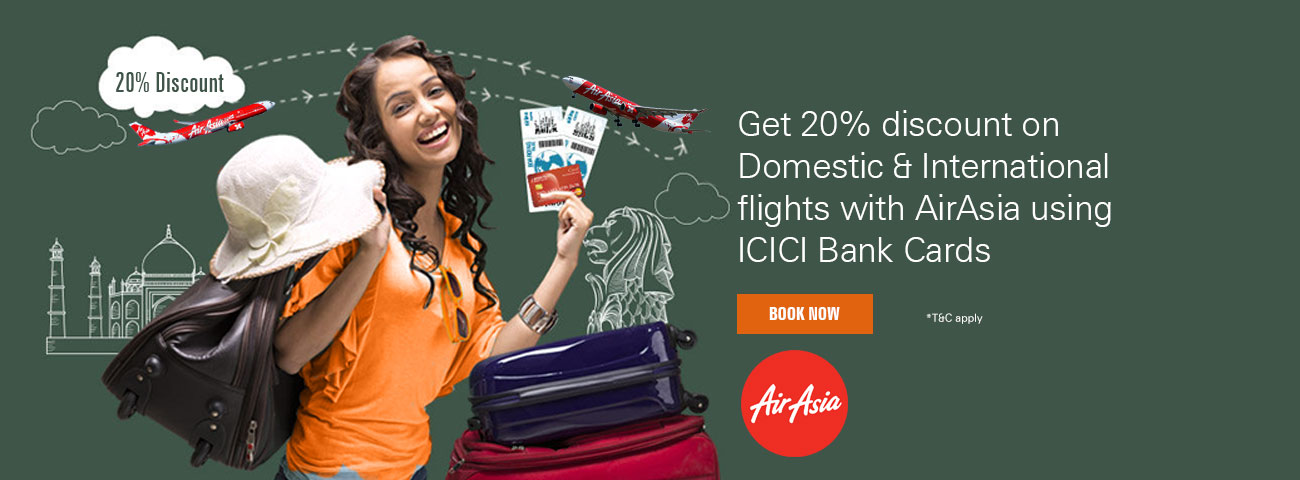 Get 20% discount on AirAsia Offer