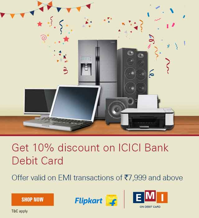 Presenting EMI on ICICI Bank Debit Card