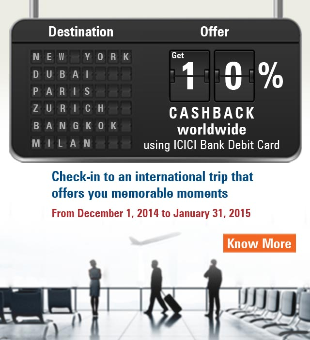 10% Cashback on international spends